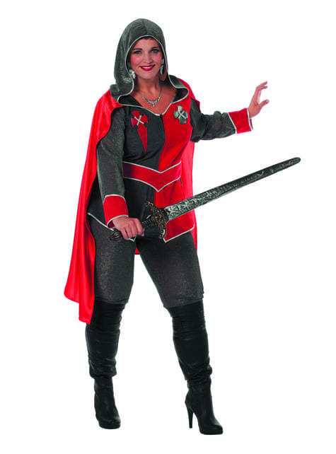 Red knight costume for women