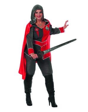 Costume da cavaliere rosso per donna