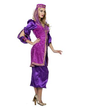 Paars Arabisch prinsessen kostuum