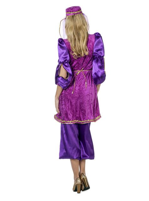 Disfarce de princesa árabe roxo