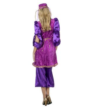 Costum purpuriu de prințesă arăbească