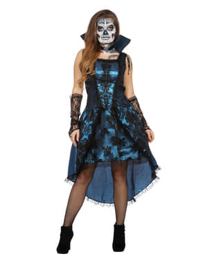 Blauw vampier kostuum voor vrouw