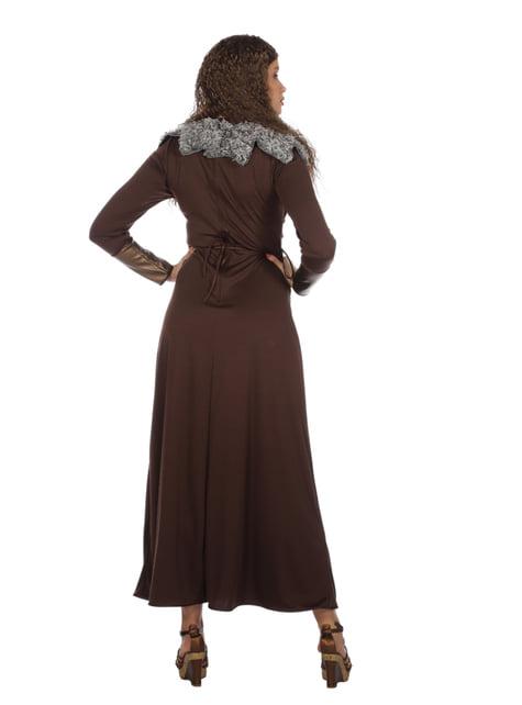Disfraz de vikingo rojo para mujer - original