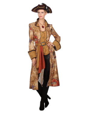 Kostum pemburu harta karun emas untuk wanita
