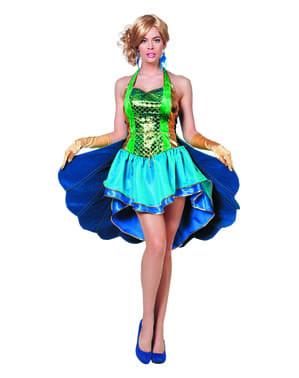 Klassiek pauw kostuum voor vrouw