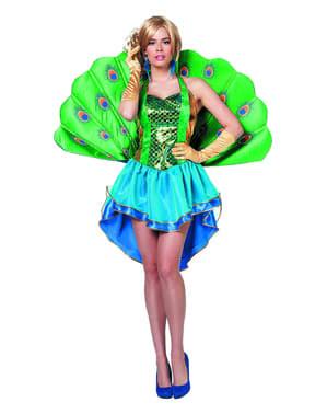 Costume da pavone reale classic per donna