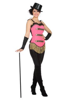 Kostum balerina kabaret merah muda untuk wanita