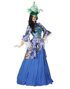Venedig Karneval Kostüm blau für Damen