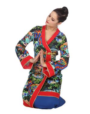 Geisha Kostüm blau für Damen