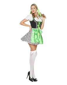 231150b2e4a0b6 Oktoberfest groene dirndl kostuum voor vrouwen Oktoberfest groene dirndl  kostuum voor vrouwen