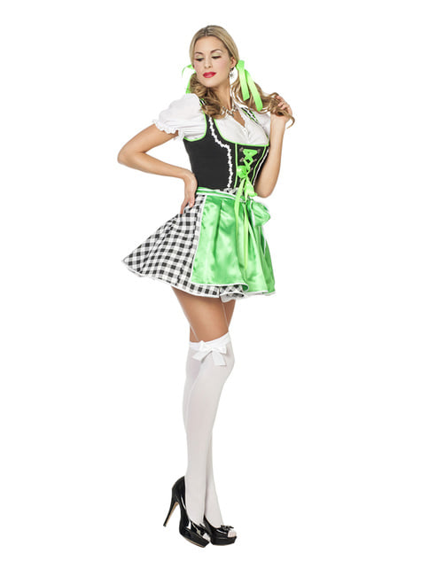 Maskeraddräkt Oktoberfest grön dam