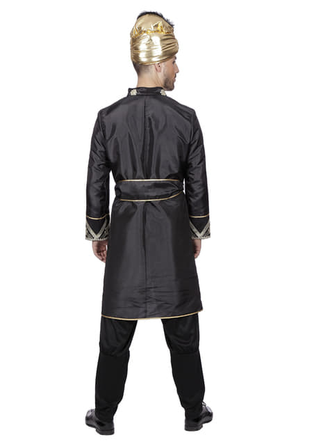 Black Indian knight costume for men
