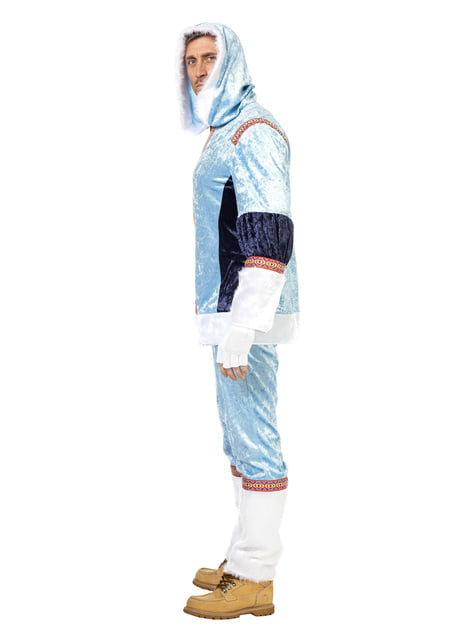 Blue eskimo costume for men