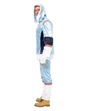 Blåt eskimo kostume til mænd