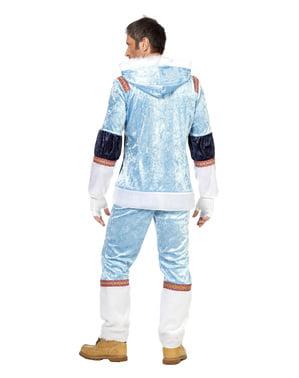Costume da eschimese blu per uomo