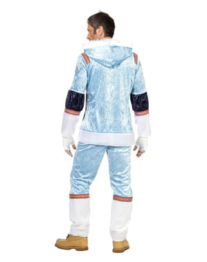 Disfraz de esquimal azul para hombre