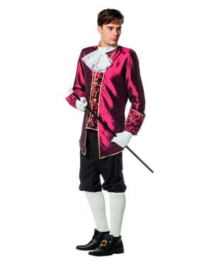 Bordeauxrood Markies kostuum voor mannen
