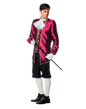 Maroon Marquis costume for men