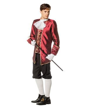 Disfraz de Marqués granate para hombre
