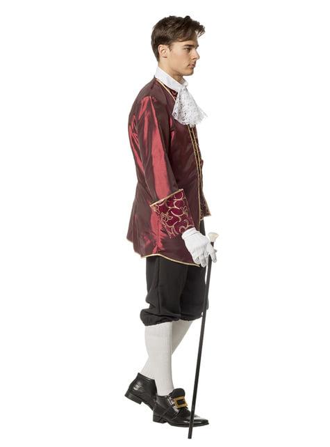 Disfraz de Marqués granate para hombre - original