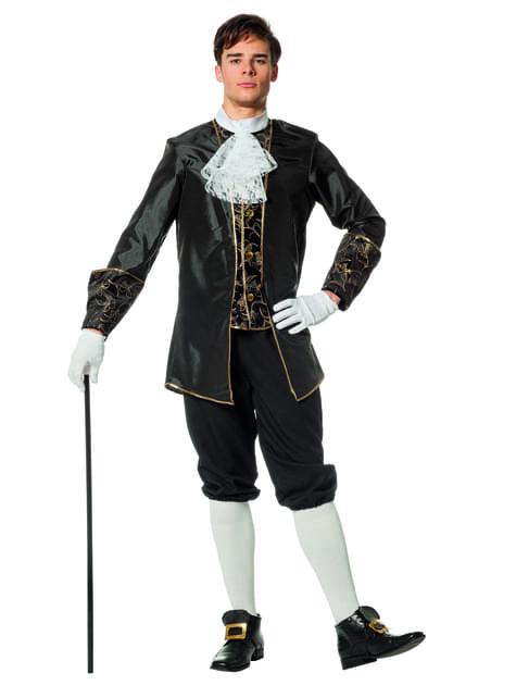 Disfraz de Marqués negro para hombre