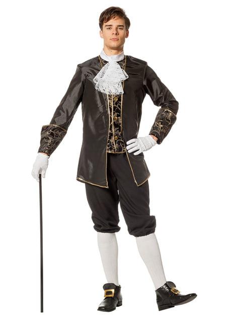 Disfraz de Marqués negro para hombre - hombre
