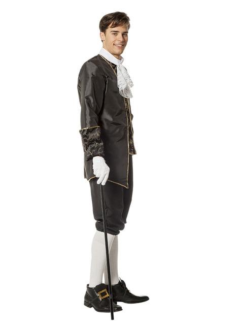 Czarny kostium Markiza dla mężczyzn