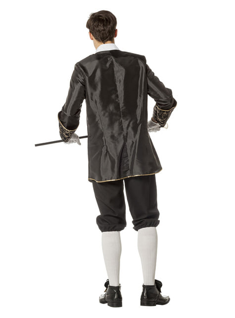 Disfraz de Marqués negro para hombre - traje
