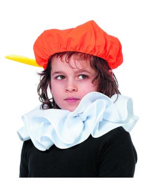 Schwarze Peter Mütze orange für Kinder