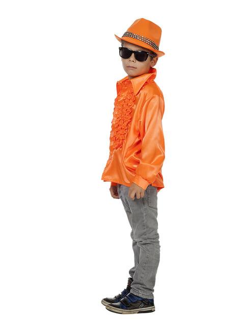 Camisa disco de los 70's naranja infantil - infantil