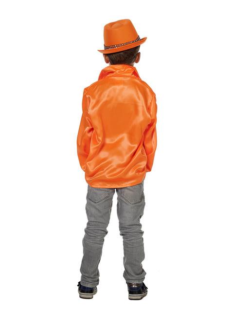Camisa disco de los 70's naranja infantil - original
