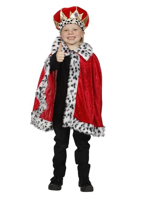 Chlapecký plášť princ červený