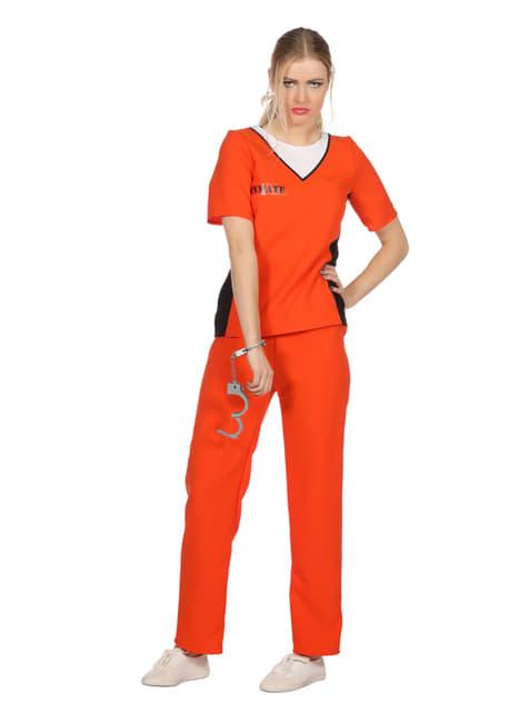 Oranje gevangenis kostuum voor vrouw