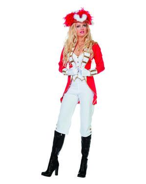 Kadınlar için Red Royal Guard kostümü