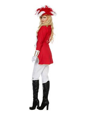 Fato de Guarda Real vermelho par mulher