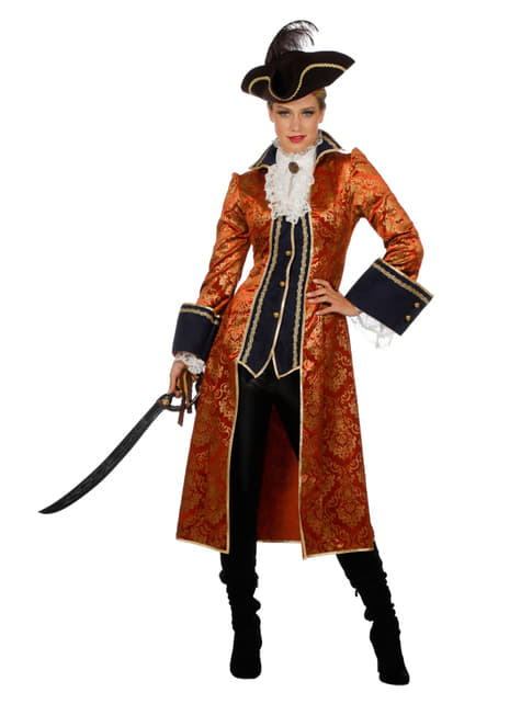 Orange pirate costume for women