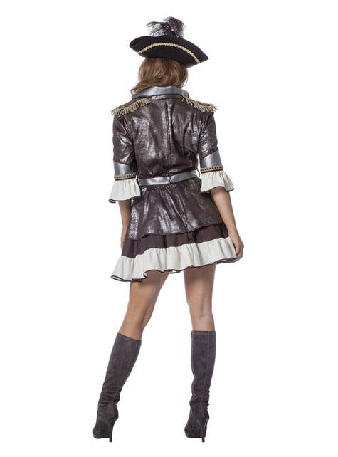 Disfraz de pirata deluxe marrón para mujer - traje