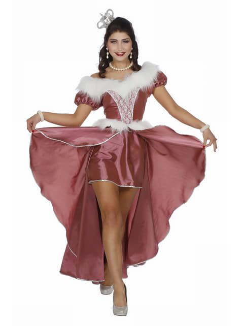 Disfraz de Princesa del Hielo rosa para mujer
