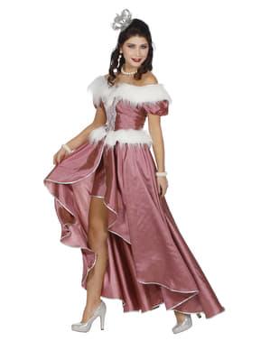 Eisprinzessin Kostüm rosa für Damen