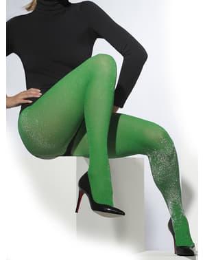 Grønne strømpebukser