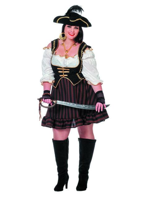 Disfraz de pirata marrón para mujer - traje