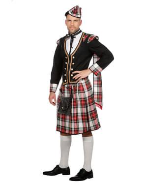 Zwart Schots kostuum voor mannen