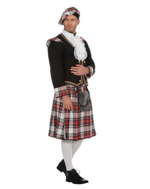 Costum de Scoțian negru pentru bărbat