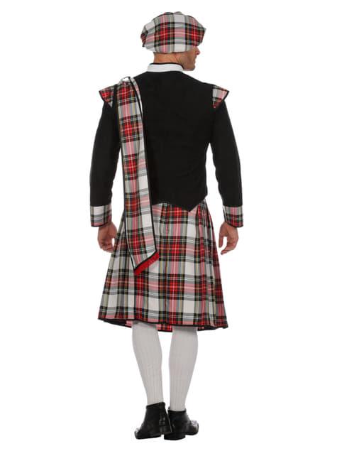 Disfraz de Escocés negro para hombre - original