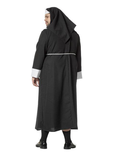 Disfraz de monja negro para hombre - hombre