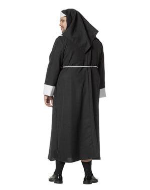 Nonnen Kostüm schwarz für Herren