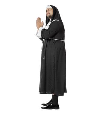 Fekete szerzetes jelmez férfiaknak
