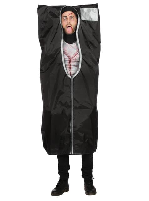 Disfraz de Bolsa para cadáveres negra para hombre