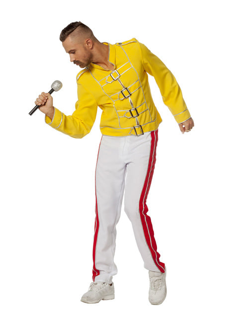 Maskeraddräkt Freddie Mercury gul för honom