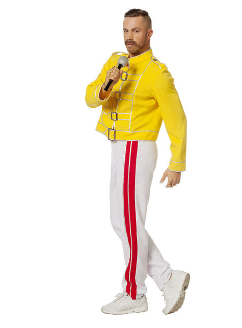 Geel Freddy Mercury kostuum voor mannen